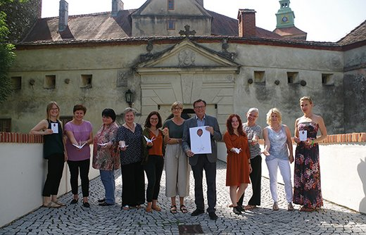 ASPR Team in front of the Castle Schlaining