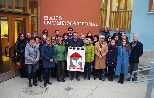 ASPR Team in front of the Haus International