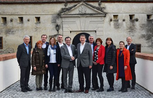 ASPR Board in front of Castle Schlaining